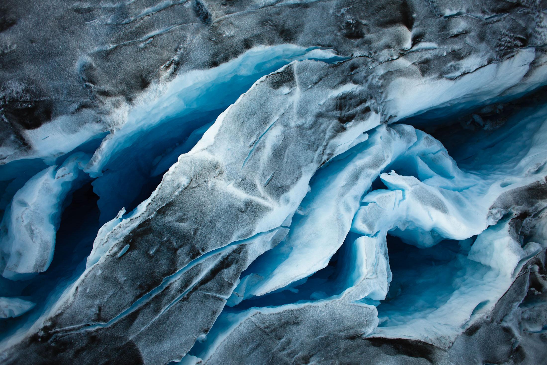 Crevasses on Kangerdlugssuaq glacier