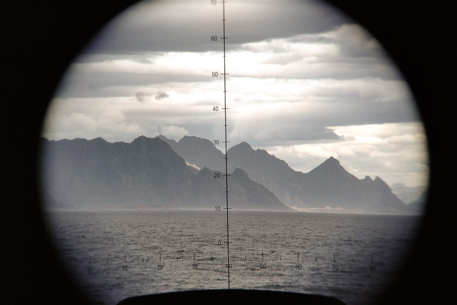 Looking through the eyes of a ship's watchkeeper, how the landscape and light changes mood and feelings. A dream at sea.