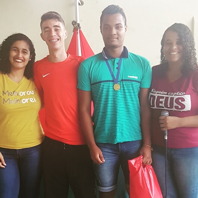 Lane, Kevin (a leader from Carpina), Luiz Fernando (one of the student leaders) and Misse