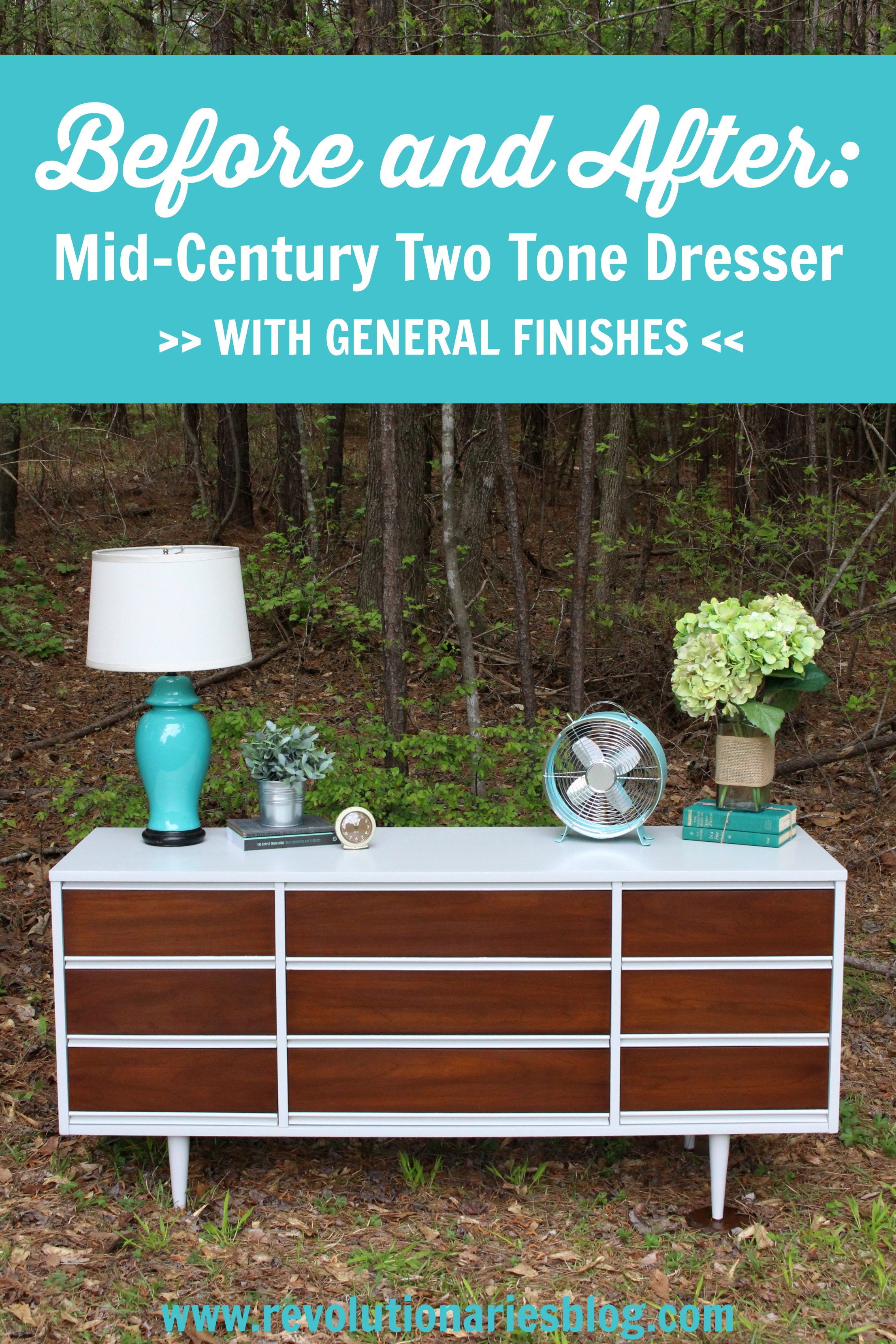 Before and After: Mid-Century Two Tone Dresser