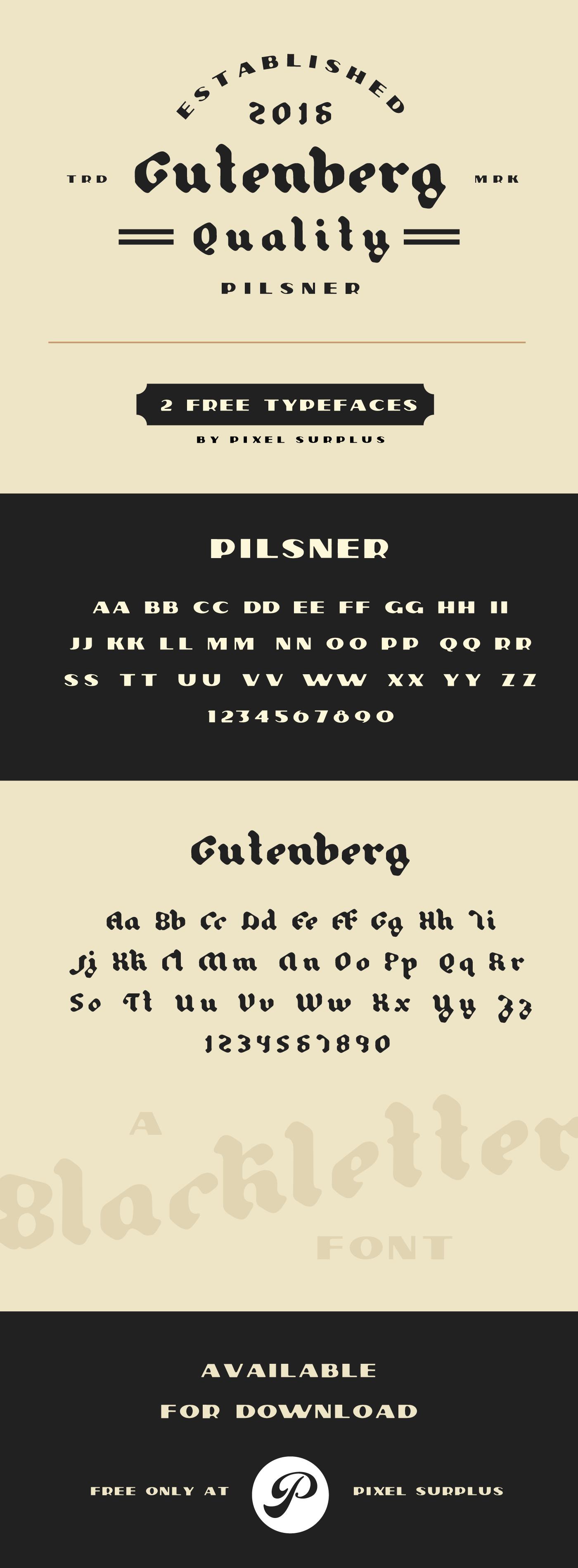 Pilsner-&-Gutenberg-Free-Font-Pairing