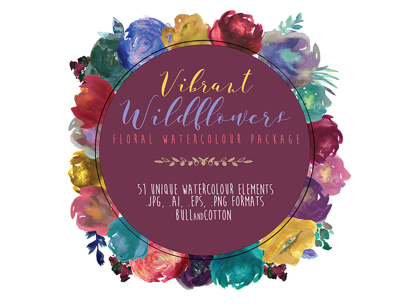 Vibrant-Wildflowers-Free-Watercolor-Florals