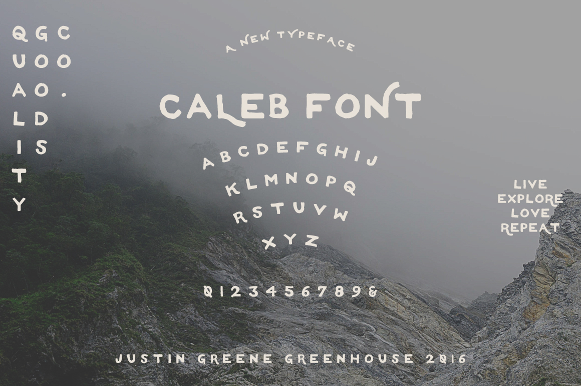 Caleb - Free Hand Drawn Font