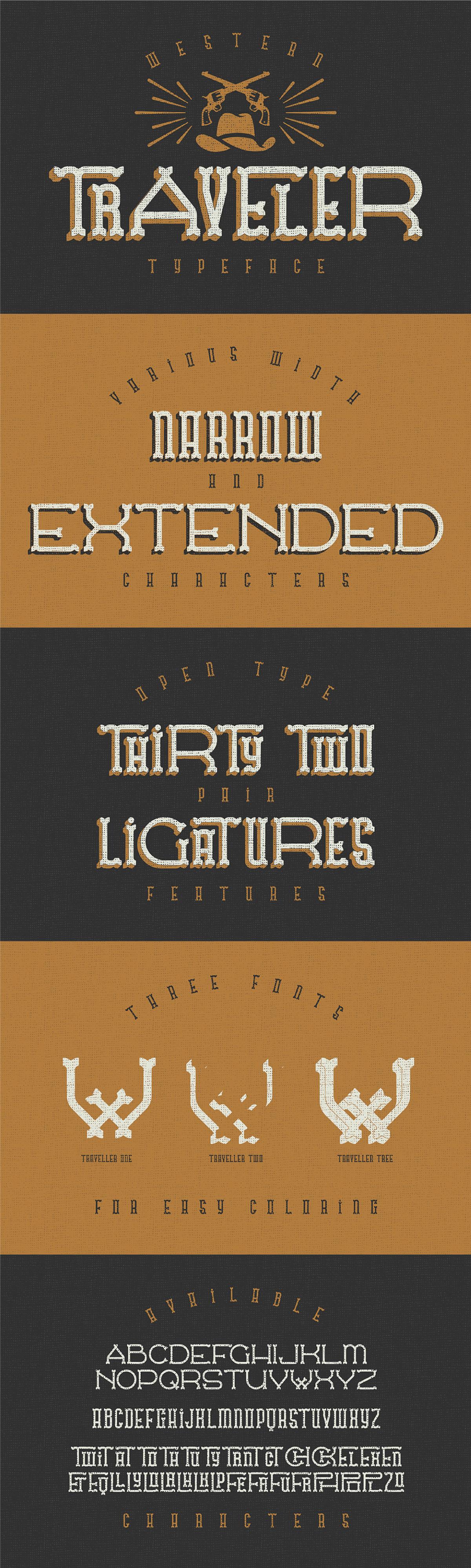 Traveler-Free-Western-Typeface