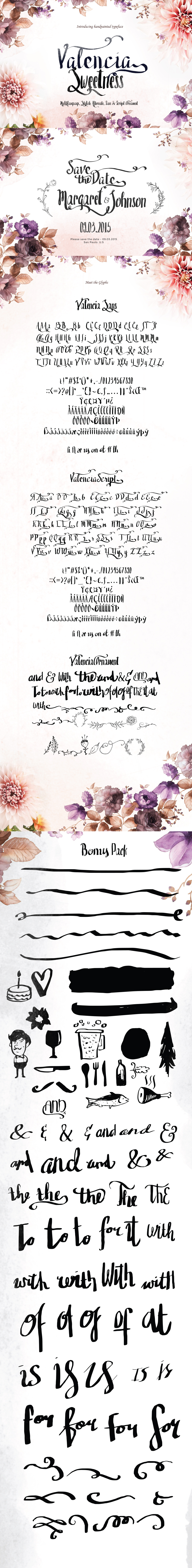 Valencia Free Modern Calligraphy Font