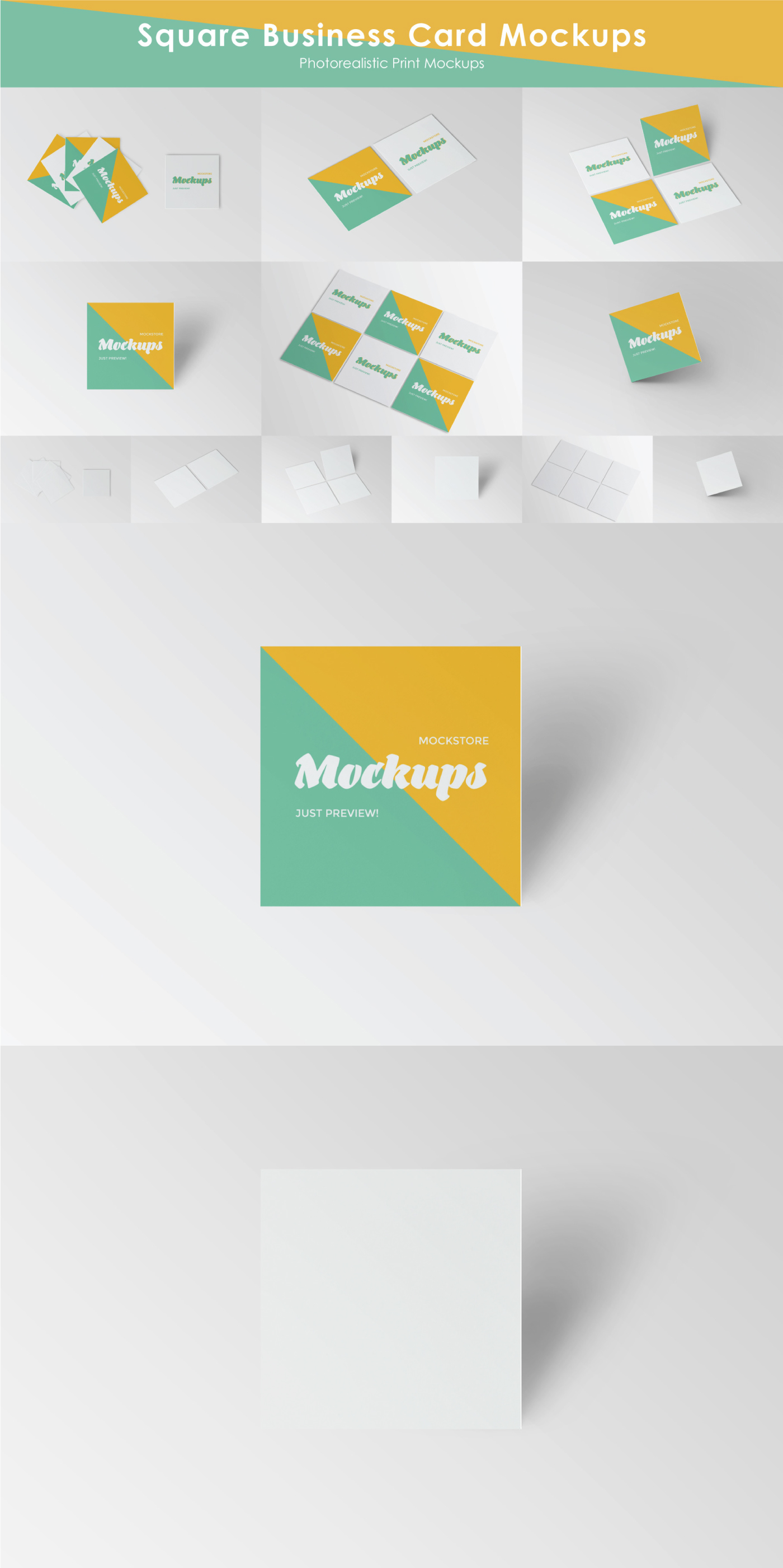 Free Square Business Card Mockup Pixel Surplus Resources For