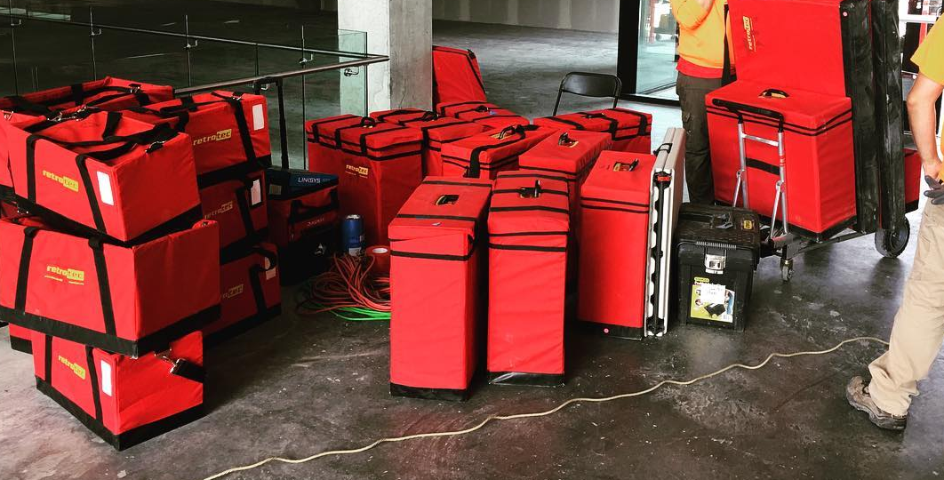 Just a small sampling of our equipment that we recently used on an air barrier / blower door test in Seattle. In not having to expensively rent equipment or have to wait for it to be delivered, lets us give you a faster response time and better pricing than the competition. Together with our experience and knowledge, the value you get is unparalleled.