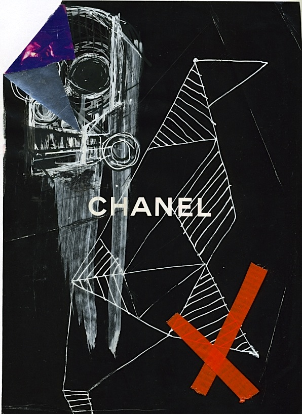 - ChanelX Marker+Acrylic+Tape+Magazine Photo