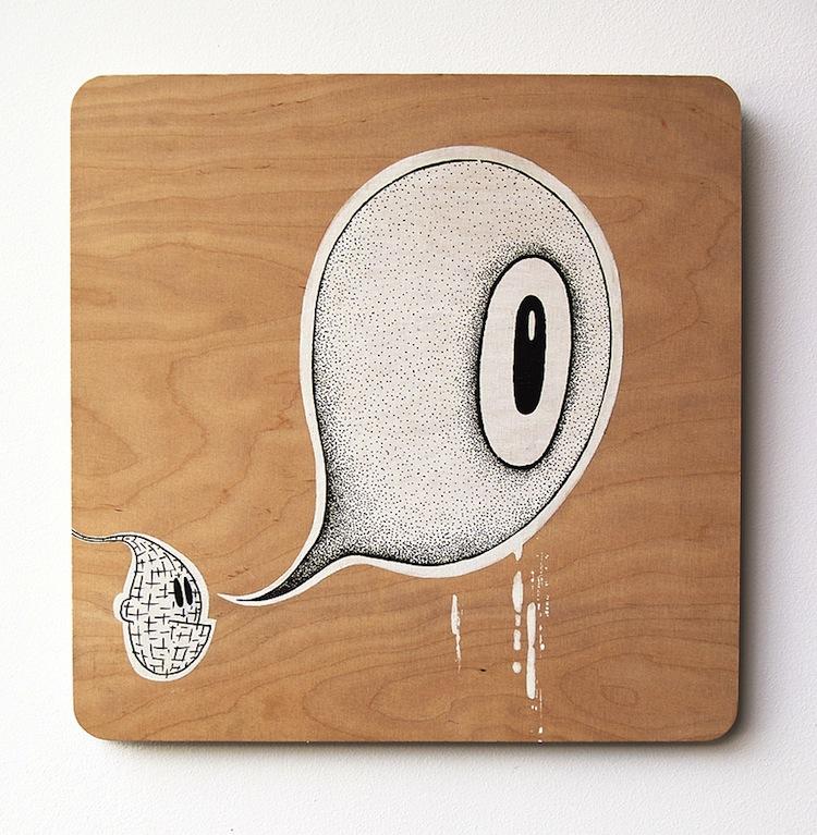 - I SEE, I SEE Acrylic+Ink+Wood