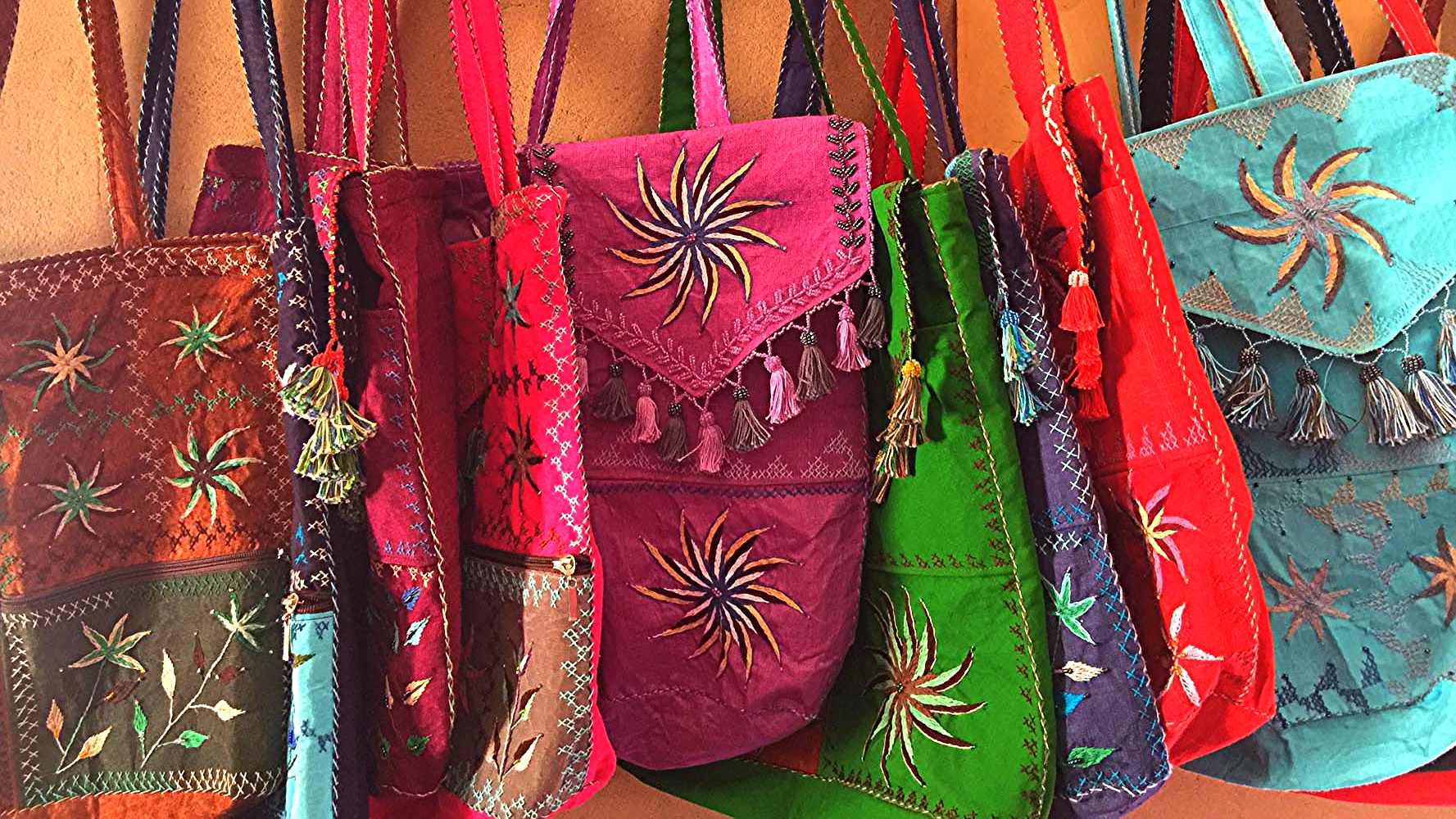Bedouin beaded and embroidered bags