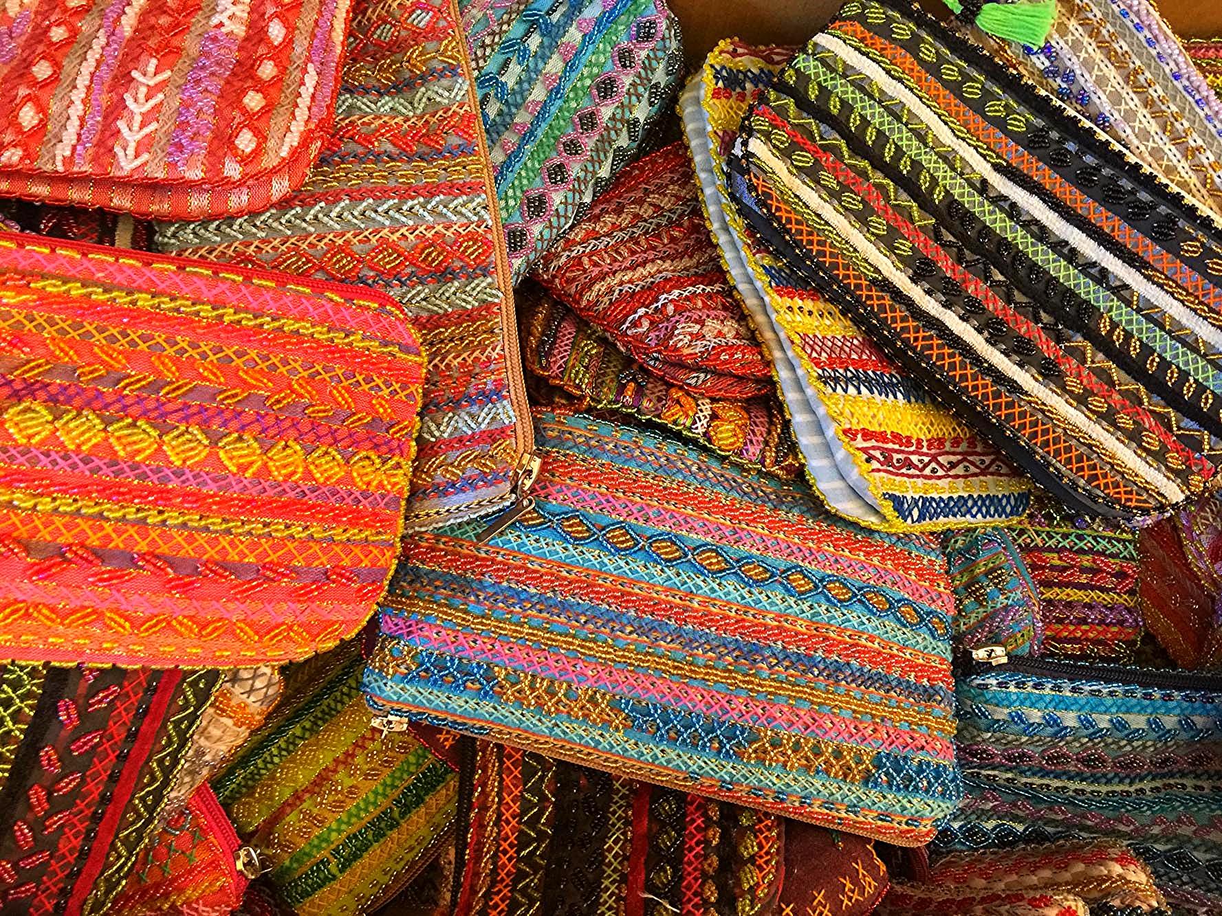 Bedouin beaded purses