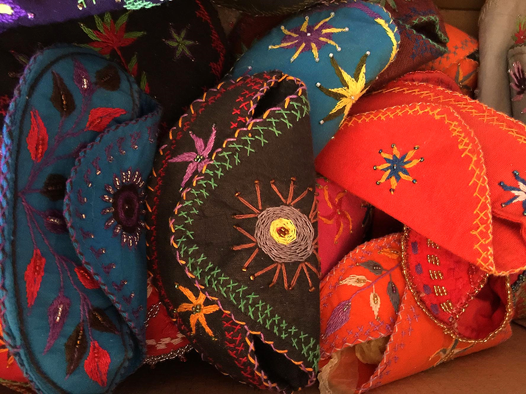 Bedouin embroidered spectacle cases