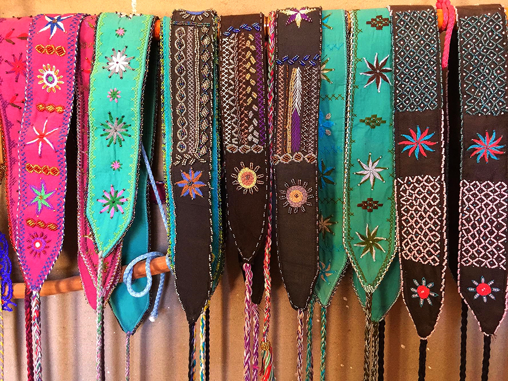 Bedouin beaded and embroidered belts