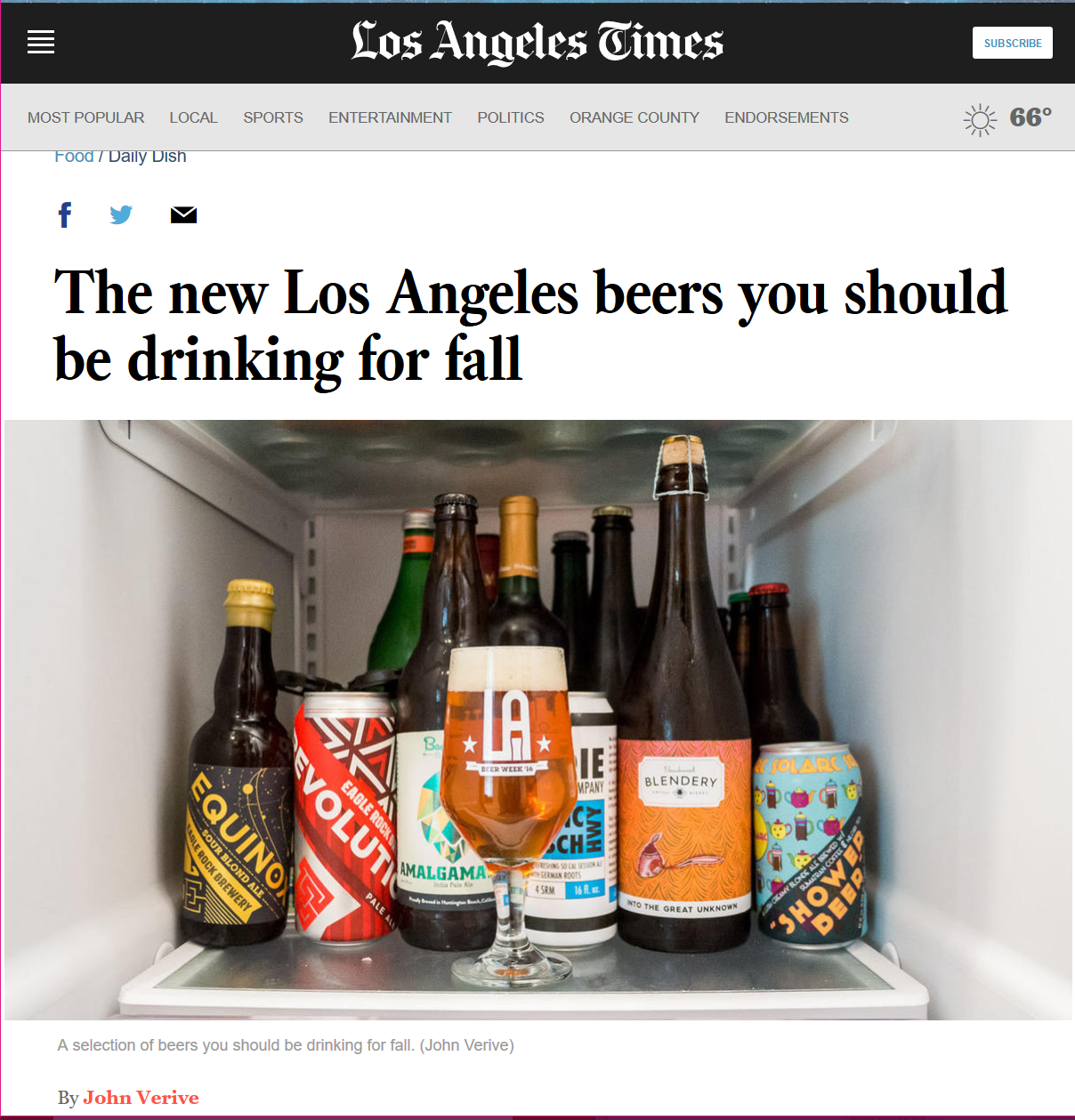 Los Angeles Times, October 2016