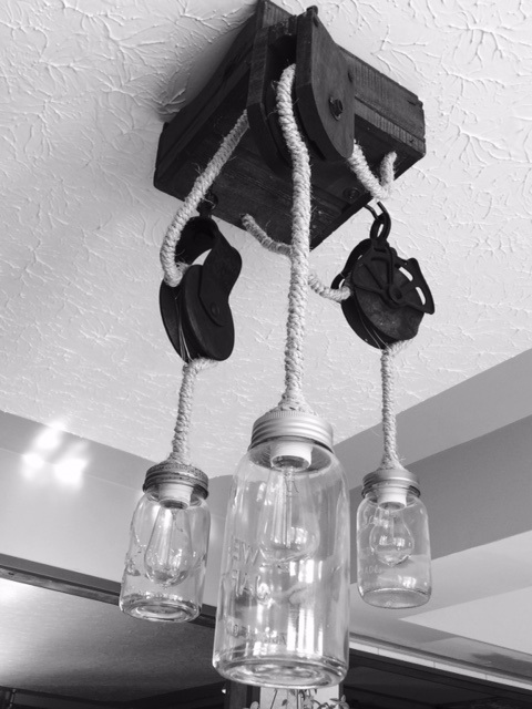 Ask about custom light fixtures we design and build from anything imaginable.