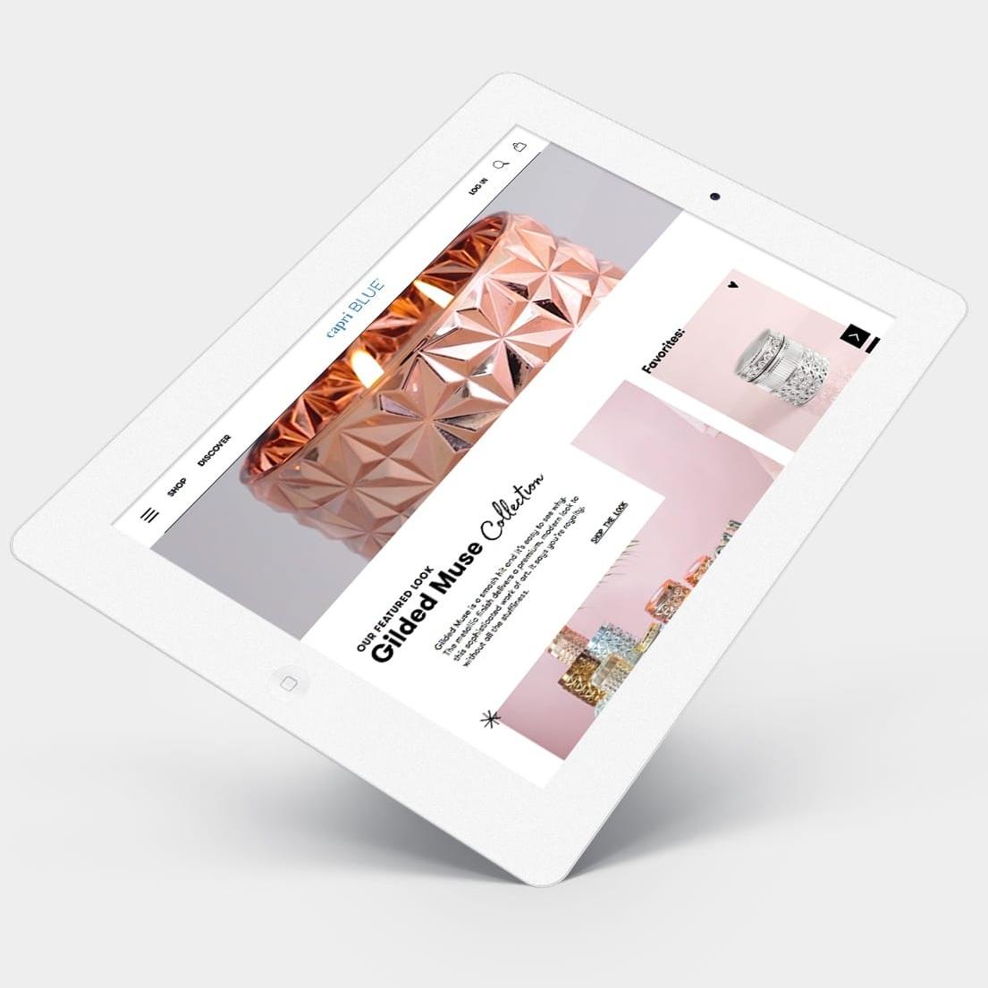 CAPRI BLUE - WEBSITE DESIGN