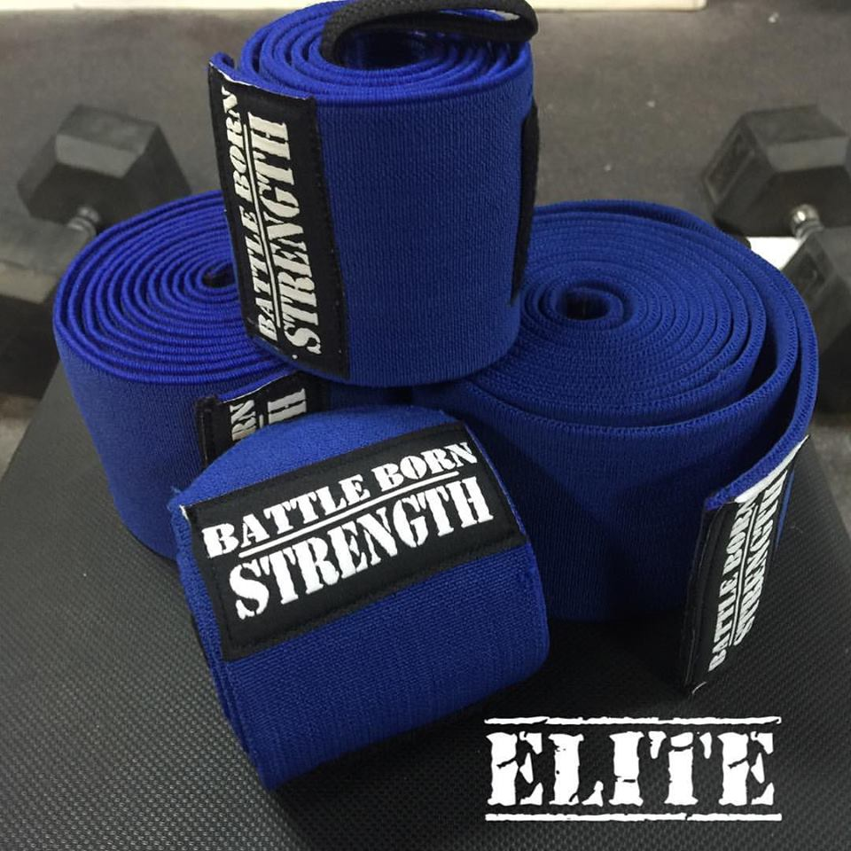 "My Dad use to say ""if you want it done right the first time, do it yourself."" Here are the ELITE wraps. 2.5 meter knee wraps and 36"" wrist wraps. These will hurt the competitions feelings and take records.  IPL/USPA approved.   Price includes shipping within the US."