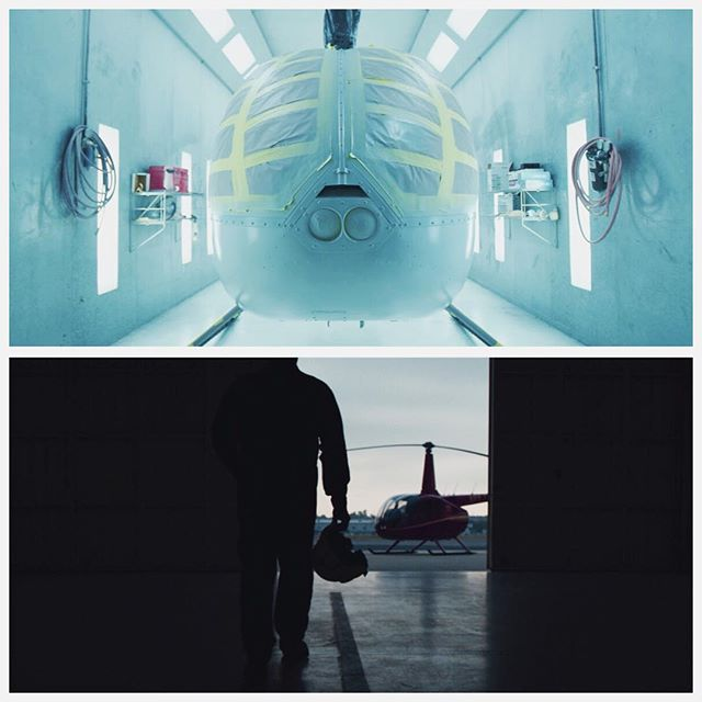 #Screengrabs from a project I just completed for @RobinsonHeli. Had an amazing time filming in their factory watching raw materials being converted into a flying machine!  Shot on @reddigitalcinema #EpicDragon and #ScarletW in #5K on @canonusa CN-E and L-Series glass.  Edited in @adobe #premierecc2018 and colored in @blackmagicnewsofficial #davinciresolve using #PhilMColor #IPP2 luts  #HowItsMade #videoproduction #filmmaking #helicopter #R3D #4k