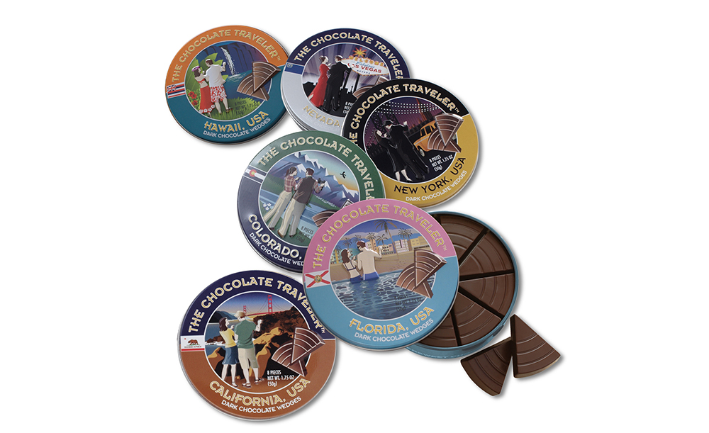 The Chocolate Traveler | State Tins