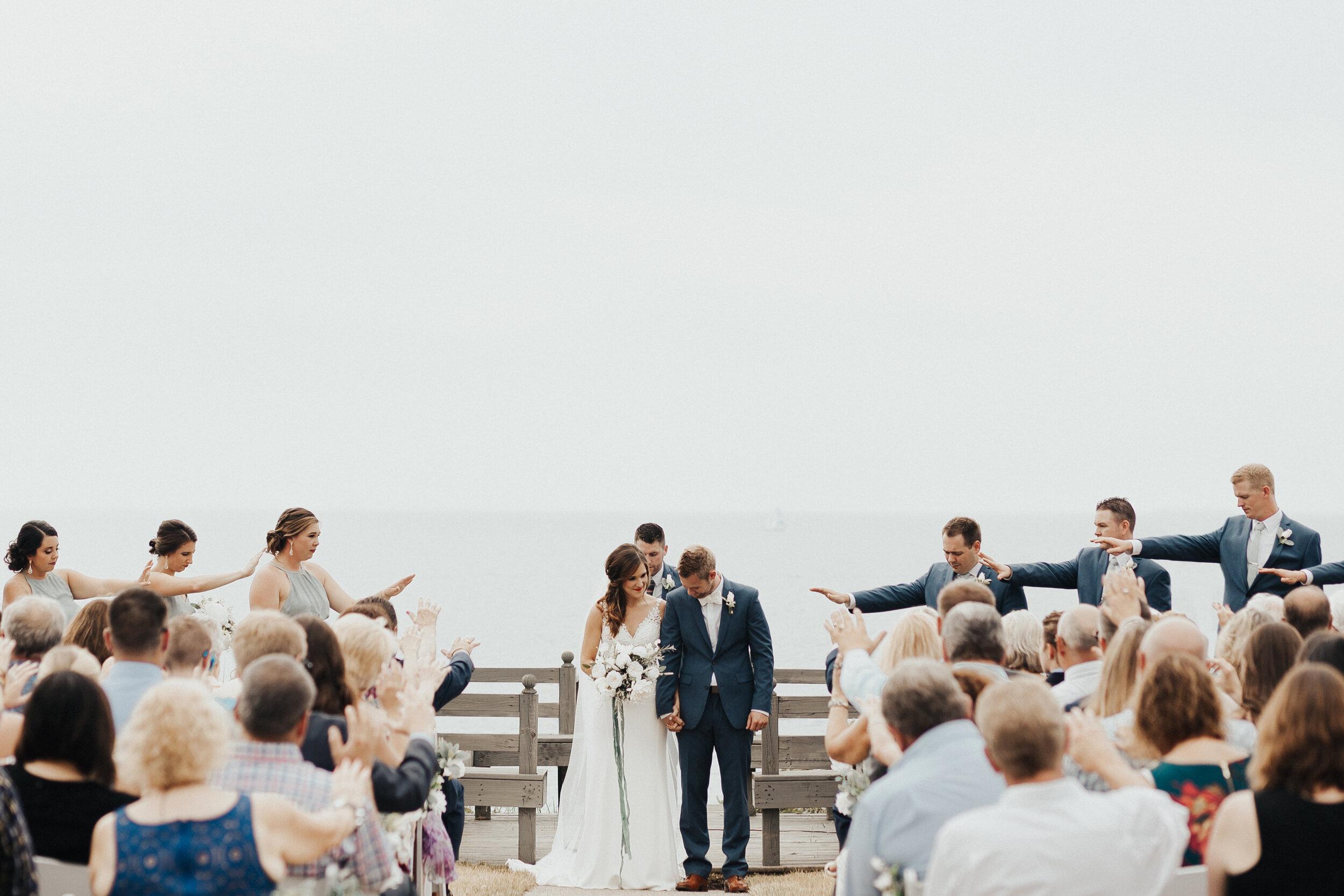 LAKE MICHIGAN BACKYARD WEDDING