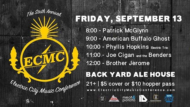 Excited to be a part of an awesome lineup at @backyardalehouse TONIGHT as part of @electriccitymc . ✌🏼#electriccitymc #showcase #scranton #music #reggae #soul #rock #livemusic #connection #musicalmedicine #progress #presence #lyrical #consciousness #onelove #peace