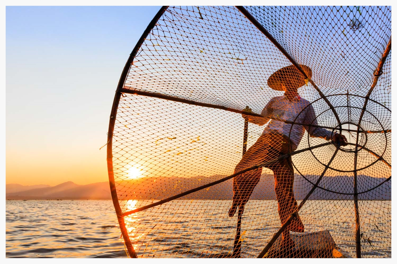 Fisherman, Lake Inle, Myanmar
