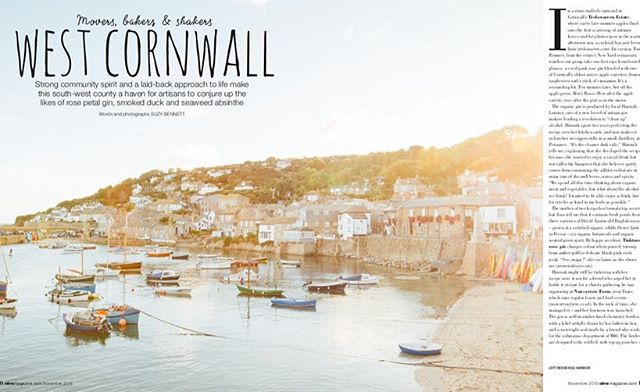 Out in the November @olivemagazine, my feature about Penzance's fabulous food community, with @tinkture @pocketfulofstones @wild_smoked @chapelhousepz @polgoon_vineyard @stevensonnewlyn @artistresidence and @newyardrestaurant. Also thanks to @edible_flowers.