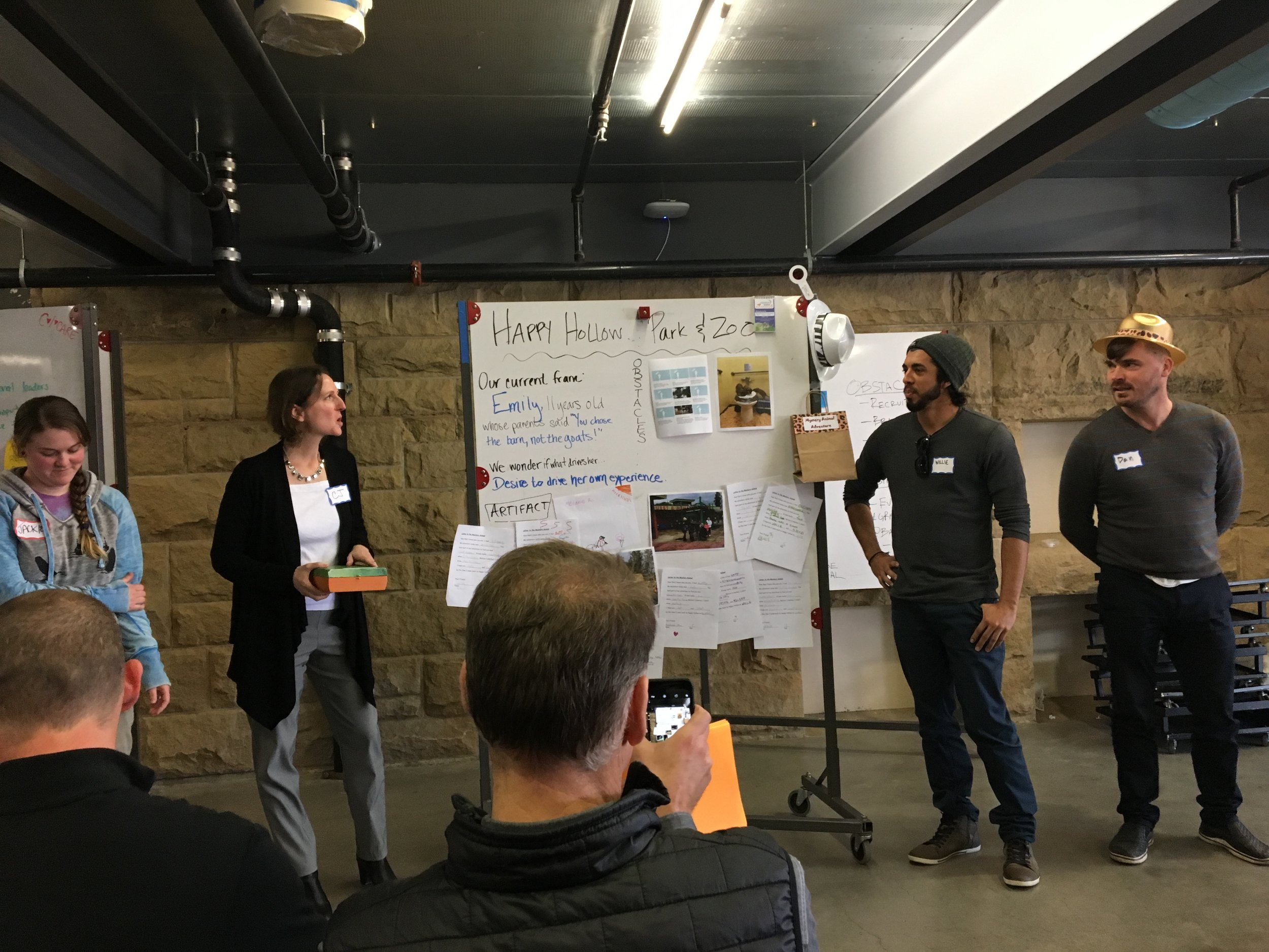 The team presents their work at the d.school!