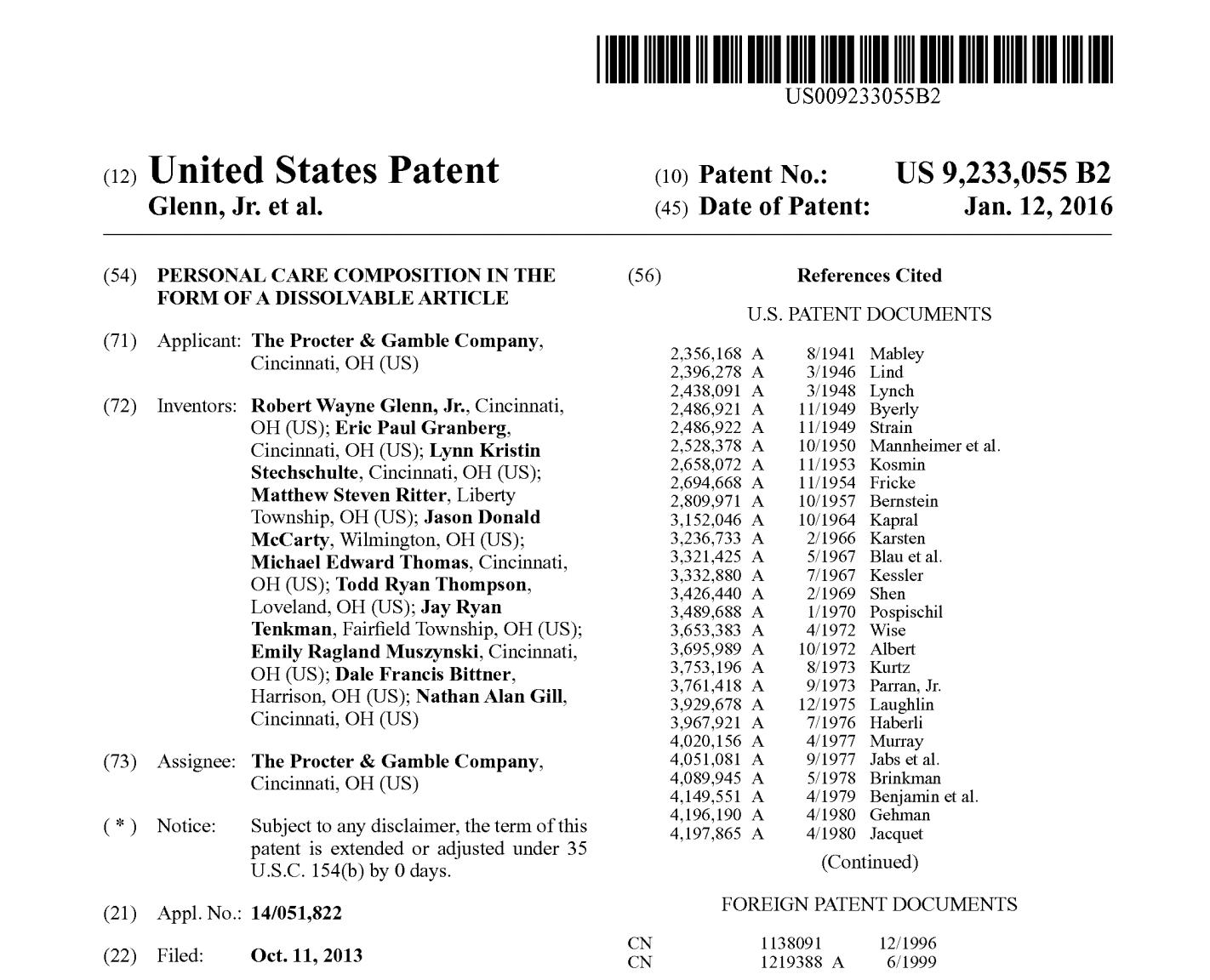 P&G patent