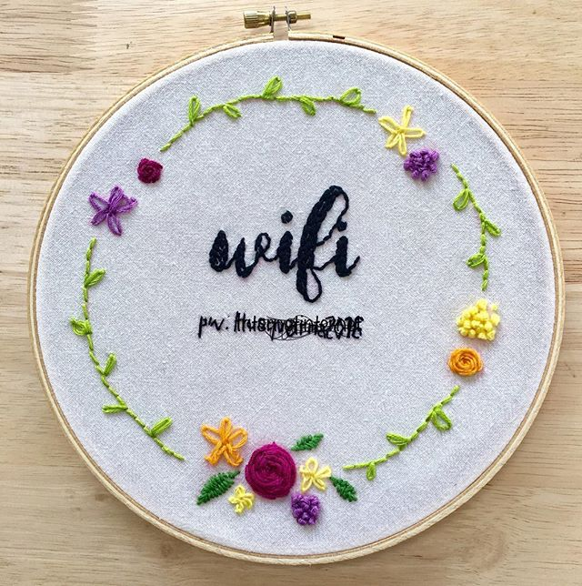 My #monthofmaking has begun! #day1 I wanted to try my hand at embroidery - always amused at mash ups of old crafts and new technology.  #embroidery #homeiswherethewificonnects #wouldcraft #stayconnected #netneutrality #gettingcrafty