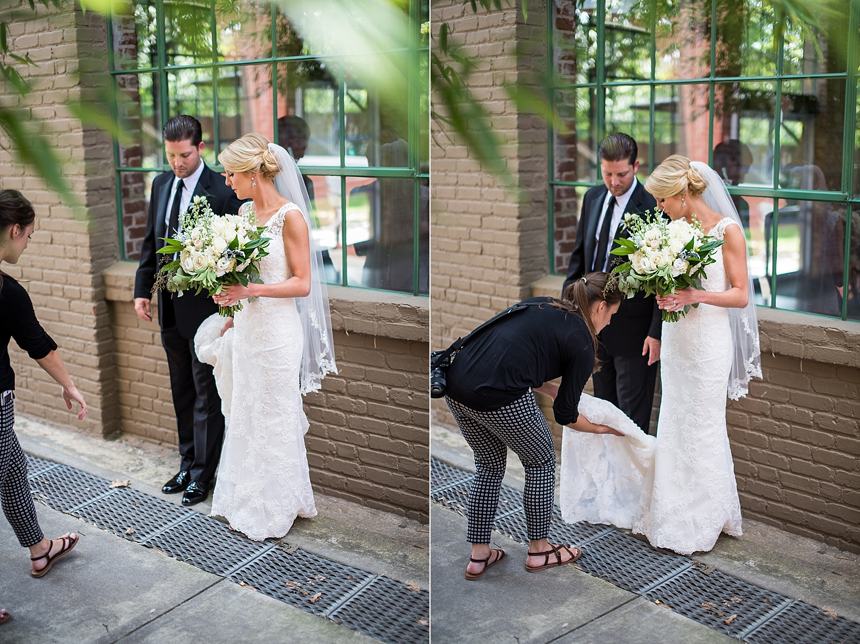 Always be fixing the dress. #photographerlife