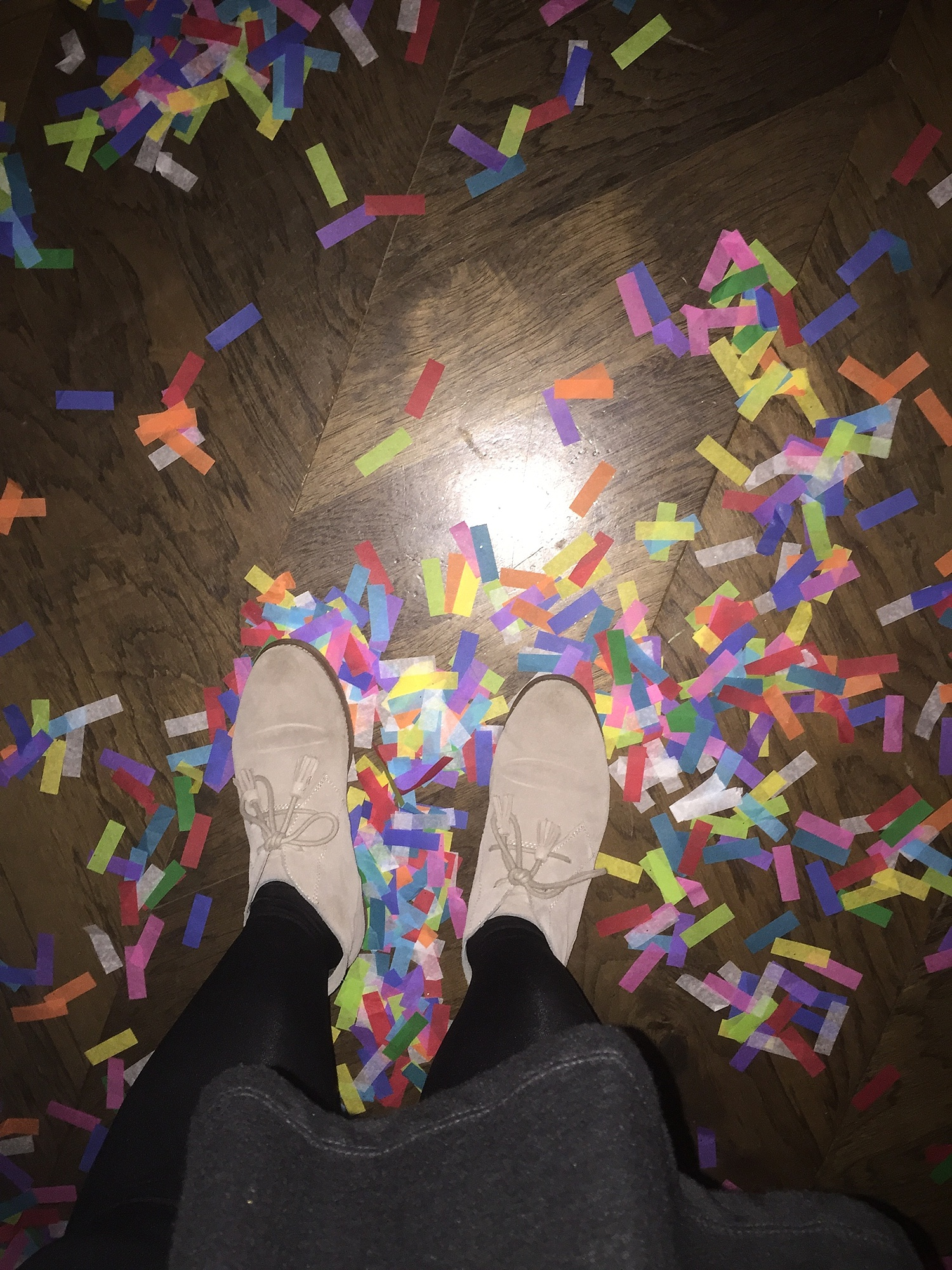 We did an awesome wedding on New Years Eve and the couple had everyone shoot confetti at midnight. It made for an incredible shot, and a very colorful floor afterwards.