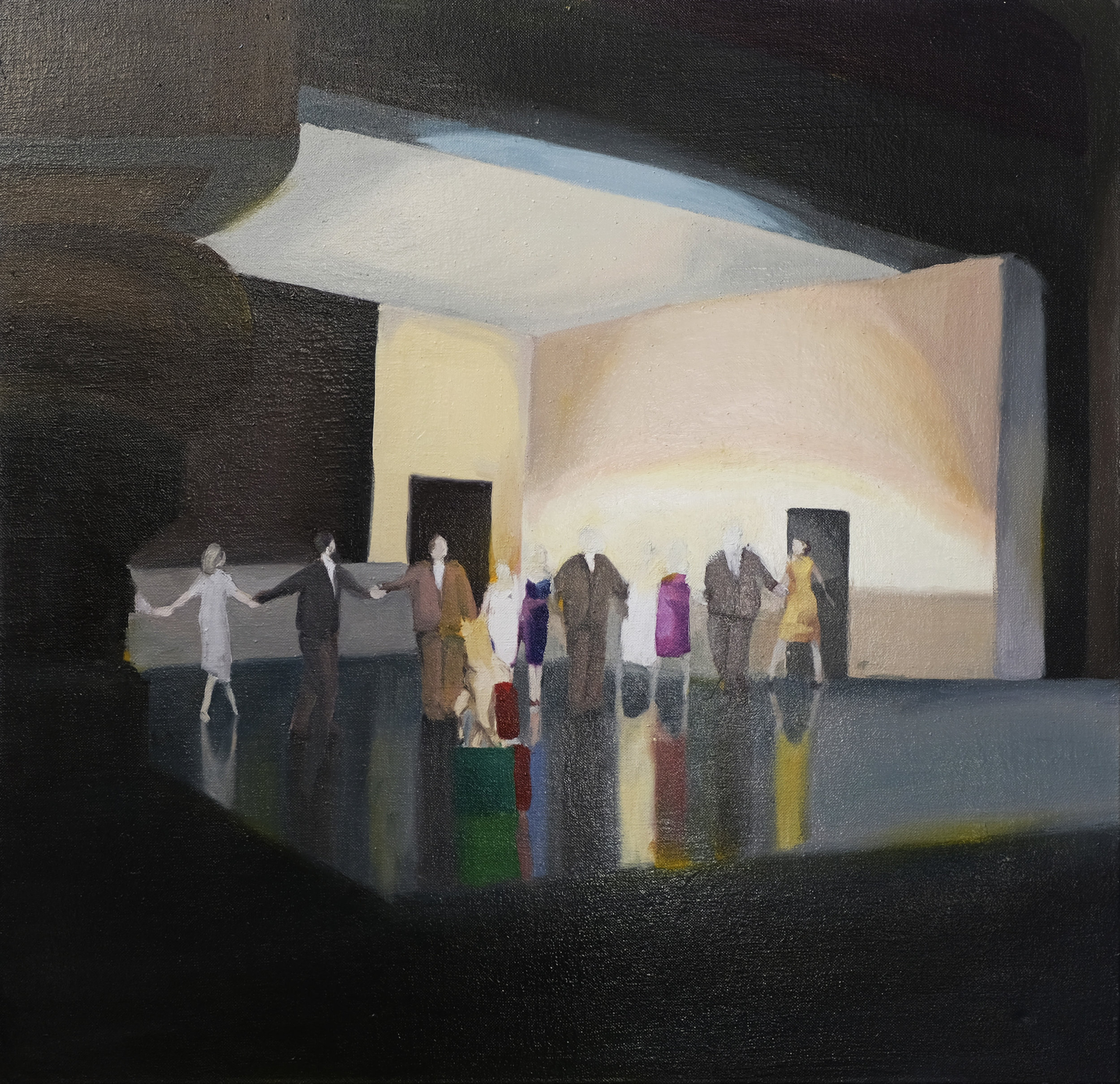 90 x 90 cm  oil on canvas