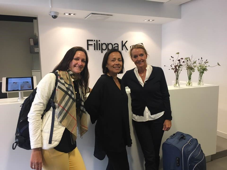 - Fabric roadshow at Filippa KIn September 2017, LTP visited the Filippa K head office in Stockholm. The main reason for the visit was to introduce Filippa K to the newest fabric trends and both fashion and functional fabrics were on the agenda.From the left; Sales Manager Vilma Kersiene, LTP - Sourcing Manager Christina Muljadi, Filippa K and Fabric expert Hanne Wiggers, LTP.