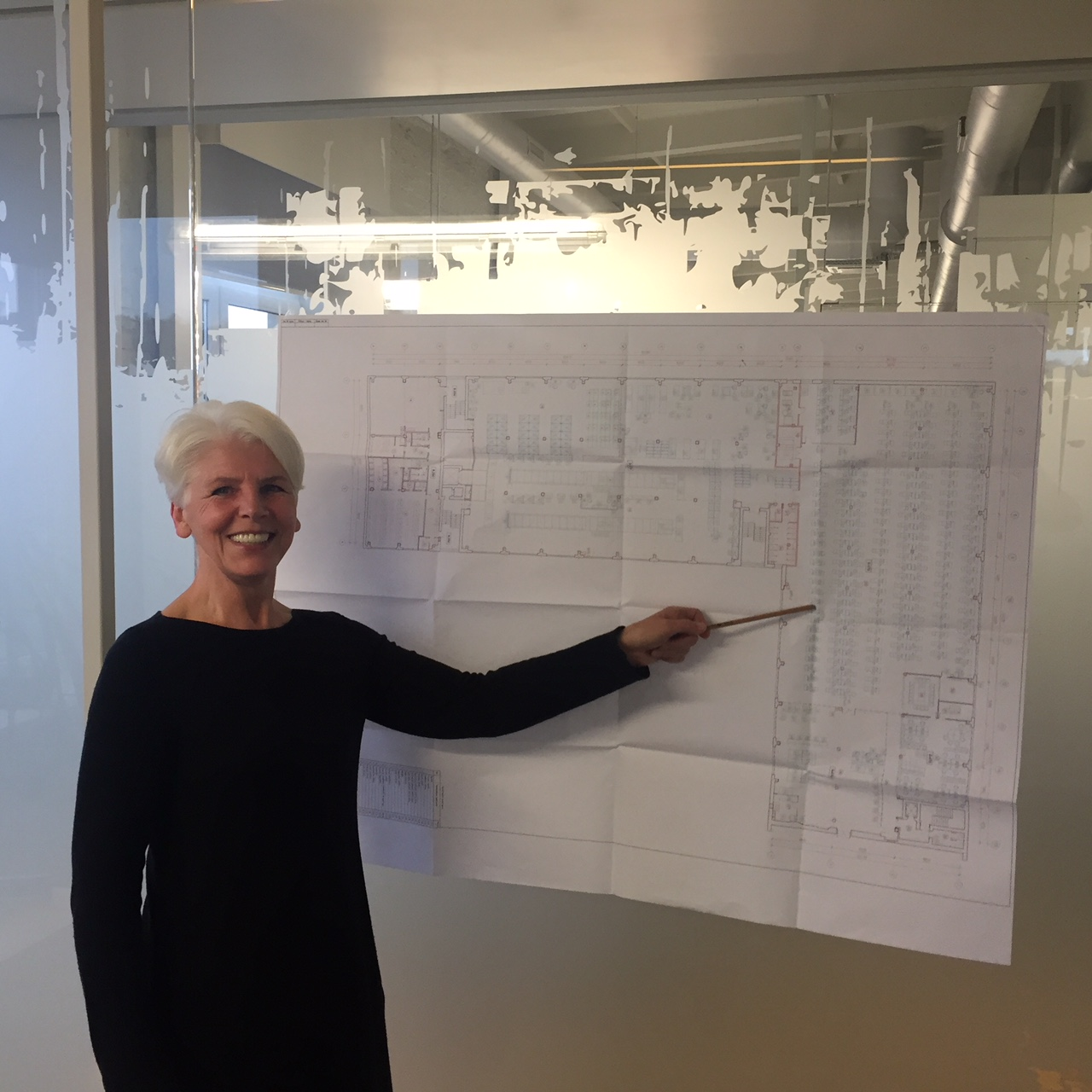 Eugenija with drawing of LTP new factory in Ukraine, which opened in December 2017