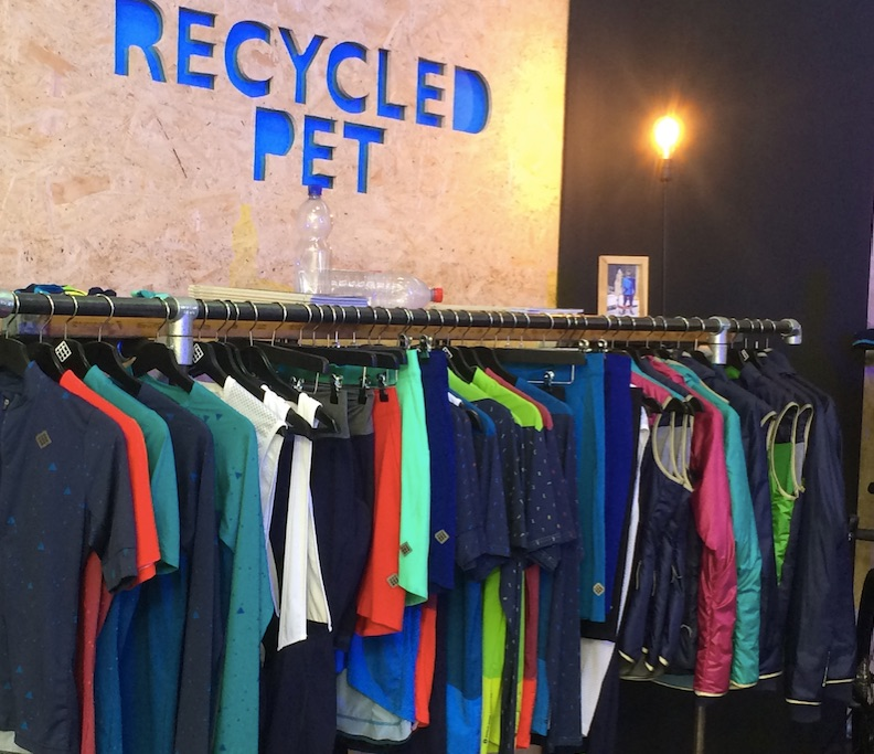 Triple 2 recycled polyester bikewear at OutDoor by ISPO 2019 © Anne Prahl
