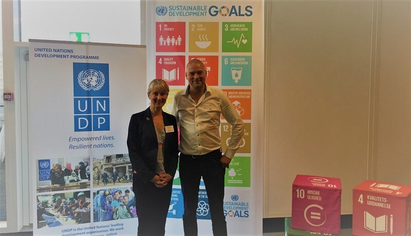 From left; Director UNDP Nordic Office, Camilla Brückner and CCO Alex Ingildsen LTP Group