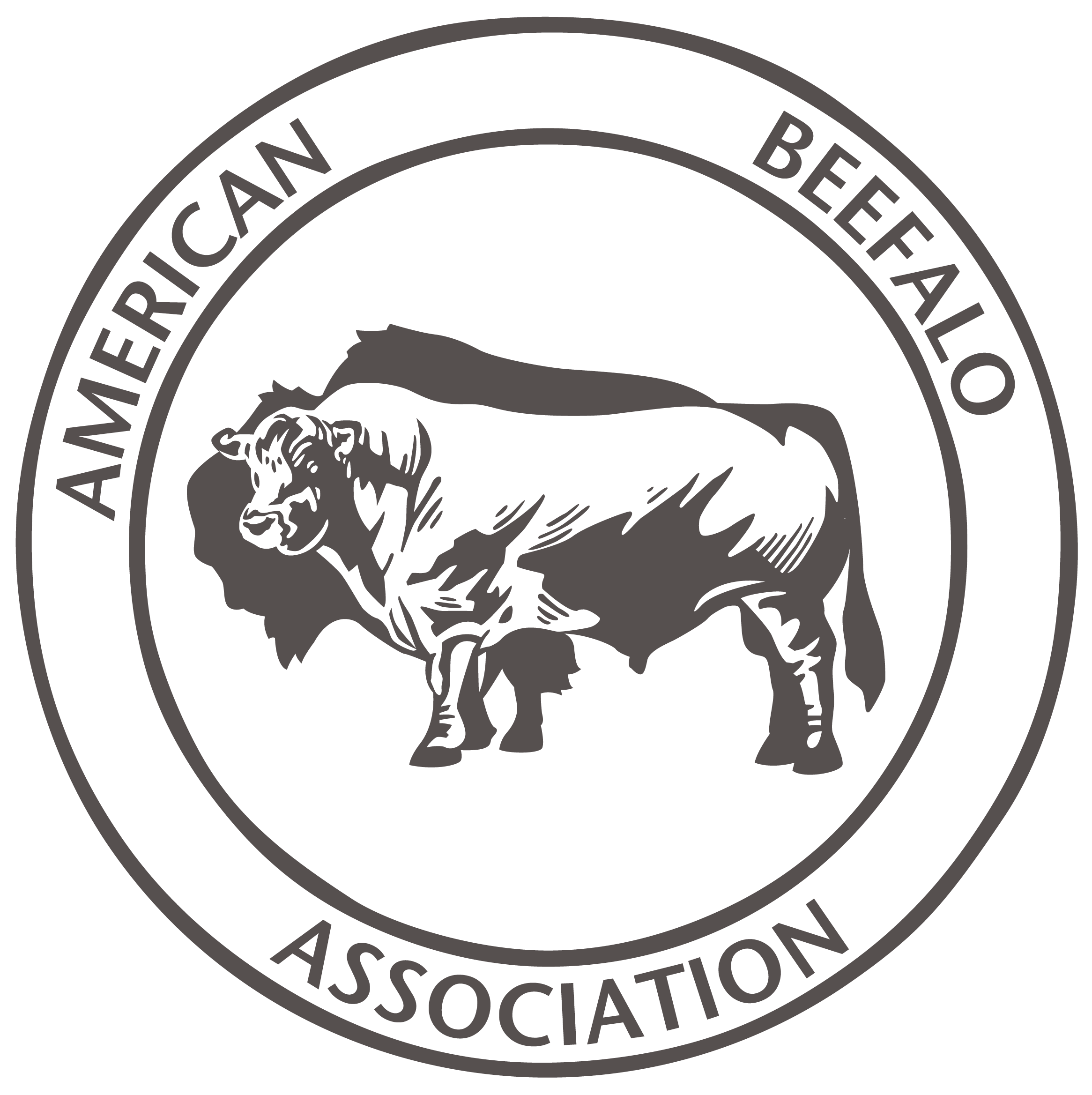 American Beefalo Association Logo - grey