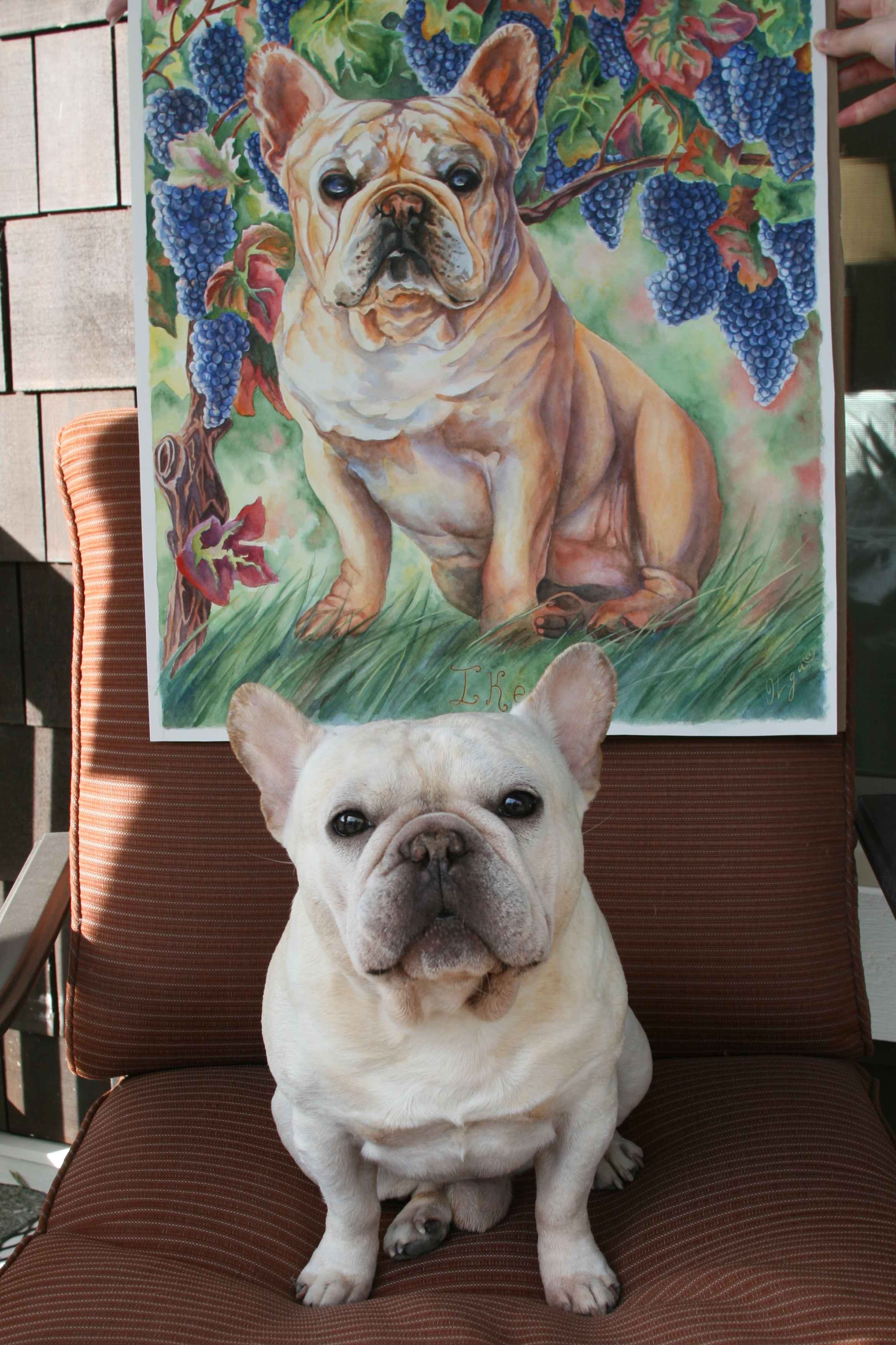Ike posing next to his portrait    February 2016