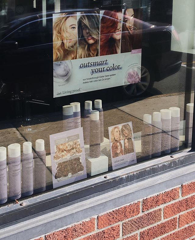 Strolling by this weekend? Stop in and learn about our favorite new color care system💜🙌🏻 . . . #LPSalonBingo #livingproof #OutsmartYourColor #yourbesthair #sulfatefree #siliconefree #parabenfree #crueltyfree #nontoxic @livingproofinc