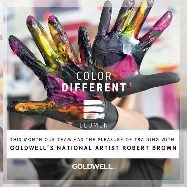 🎨 We're hosting GOLDWELL'S NATIONAL ARTIST - ROBERT BROWN for advanced training on ELUMEN PLAY & COLOR CORRECTION! We can't wait to share what we learn with you this week - Ready to color outside the lines!?! . . .  #Goldwell #elumen #elumenplay #madetofade #makecolorfunagain #goldwellapprovedus #elumenator #thesalononhaven #neverstoplearning