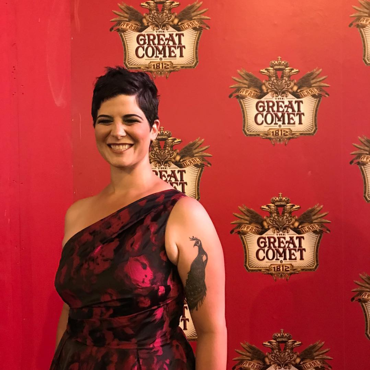 Megan celebrating the opening of The Great Comet at Imperial Theatre.