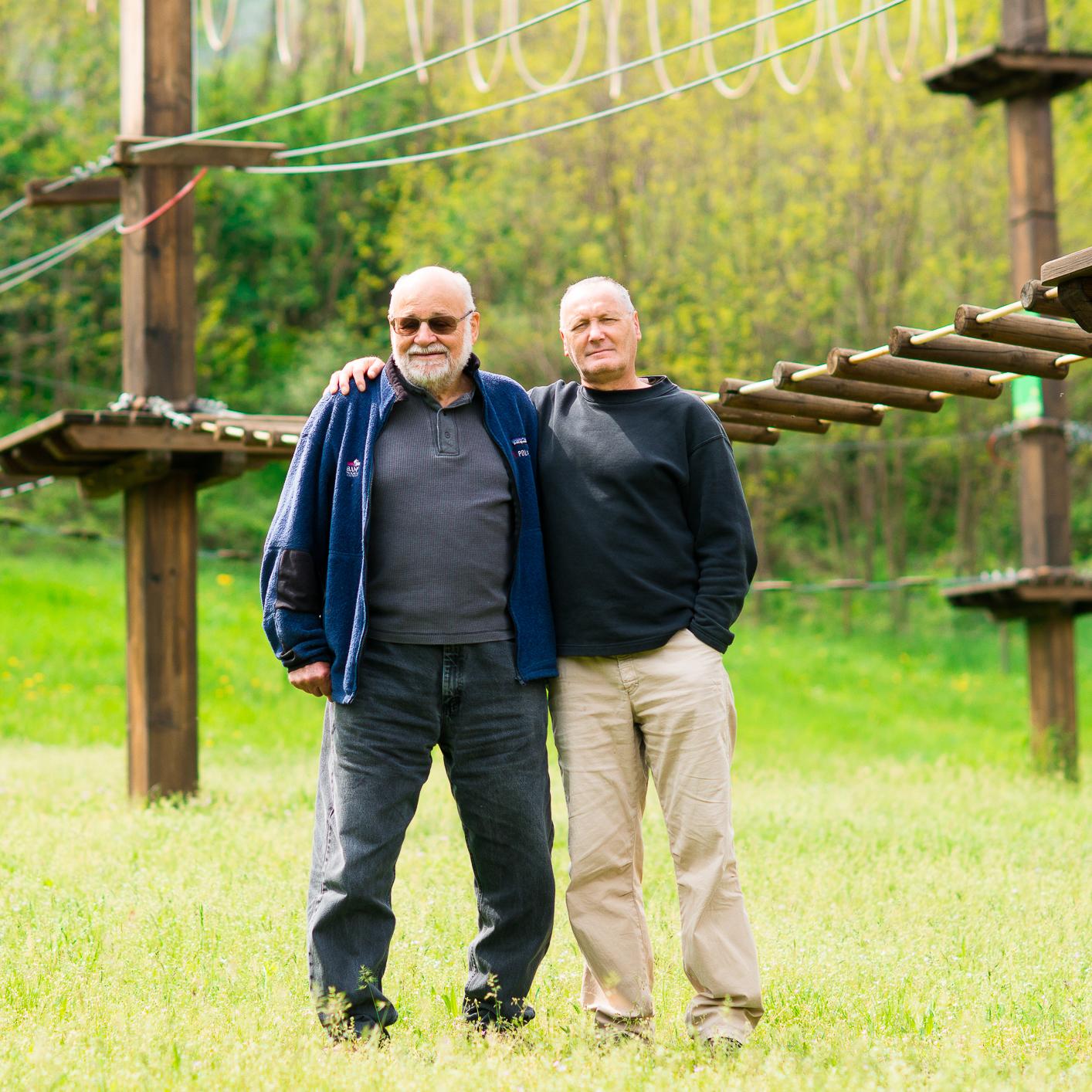 Kurt Diemberger e Salvo Giani