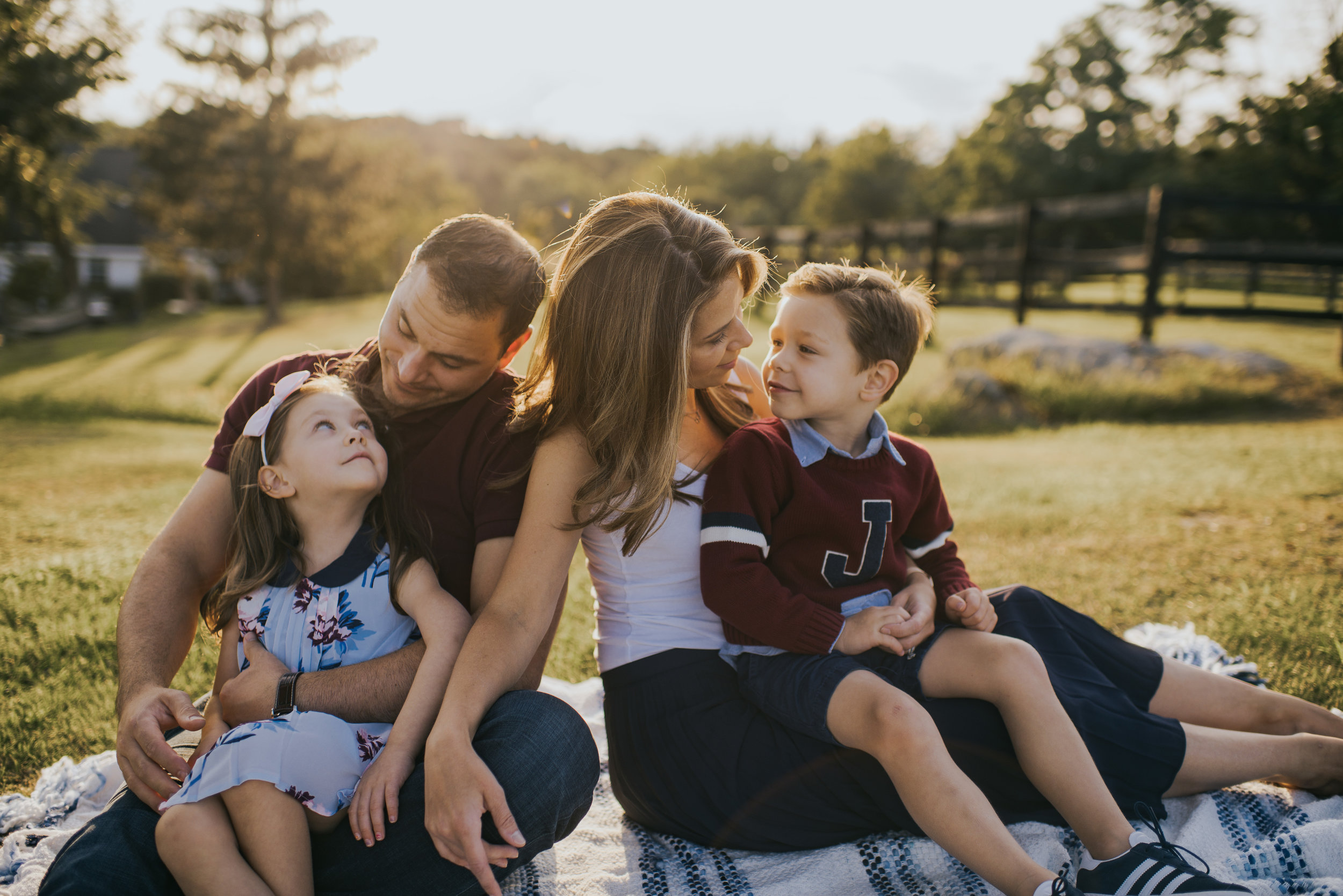Family of Four in Fairfield County, CT