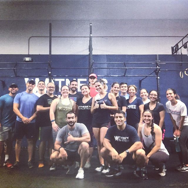 6AM & 7AM crew. It's a community! Contact us for a 3 Day Free Trial! See the difference. Feel the difference. ———————————————— June 27 ....................................... Metcon (For Time) Teams of 3! 30 Synchro Air Squats 150 Double Unders (Split as Needed) 200 Cal Row/Bike 150 Double Unders 30 Synchro Air Squats  Accessory  3 Sets of: 8 DB Skull Crushers 12 Weighted Push-Ups 16 Banded Tricep Pulldown ———————————————— #witnessathletics ⭐️ #crossfit ⭐️ #community ⭐️ #fitness ⭐️ #health ⭐️