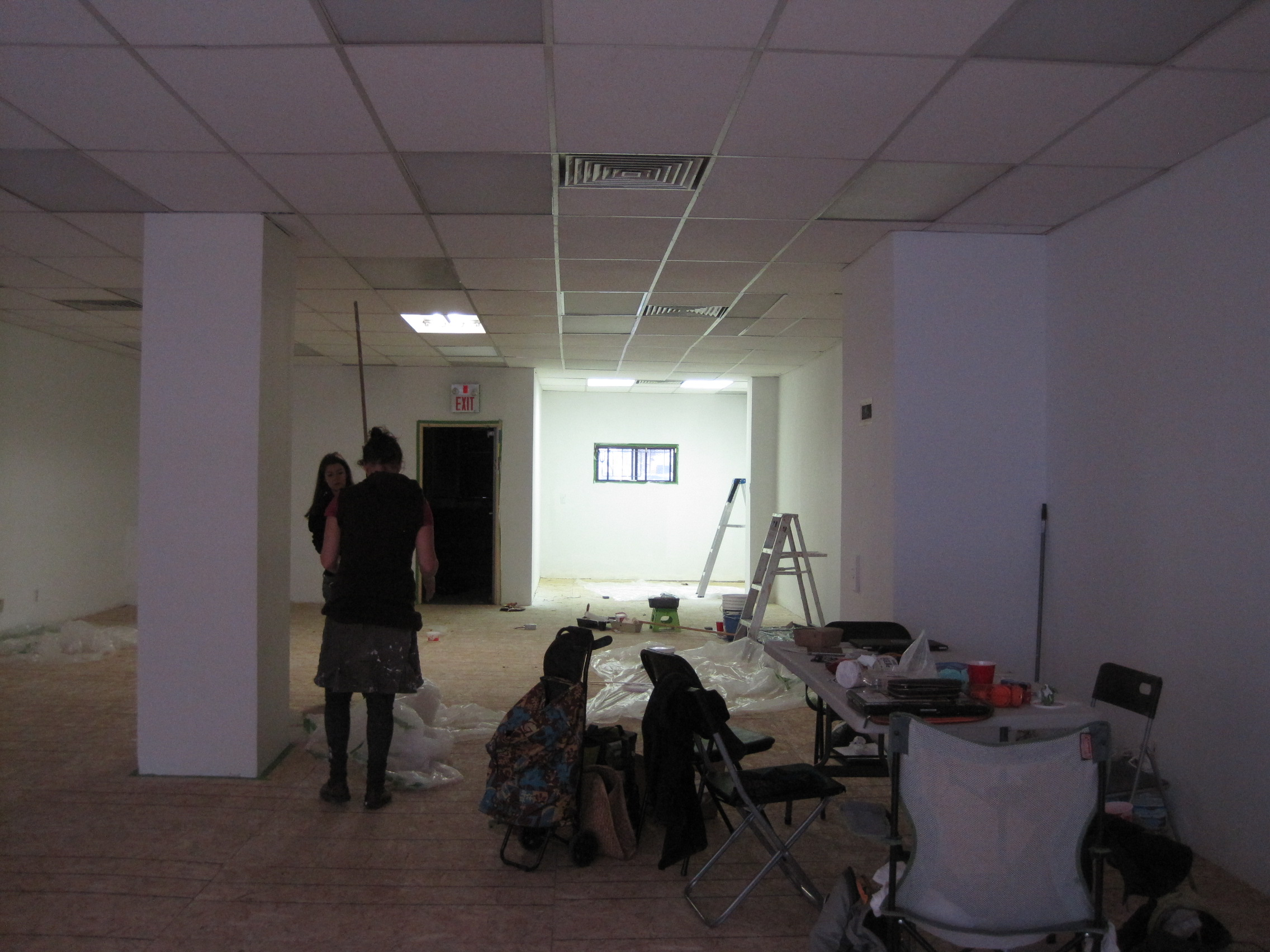 transforming the space into a pop-up gallery