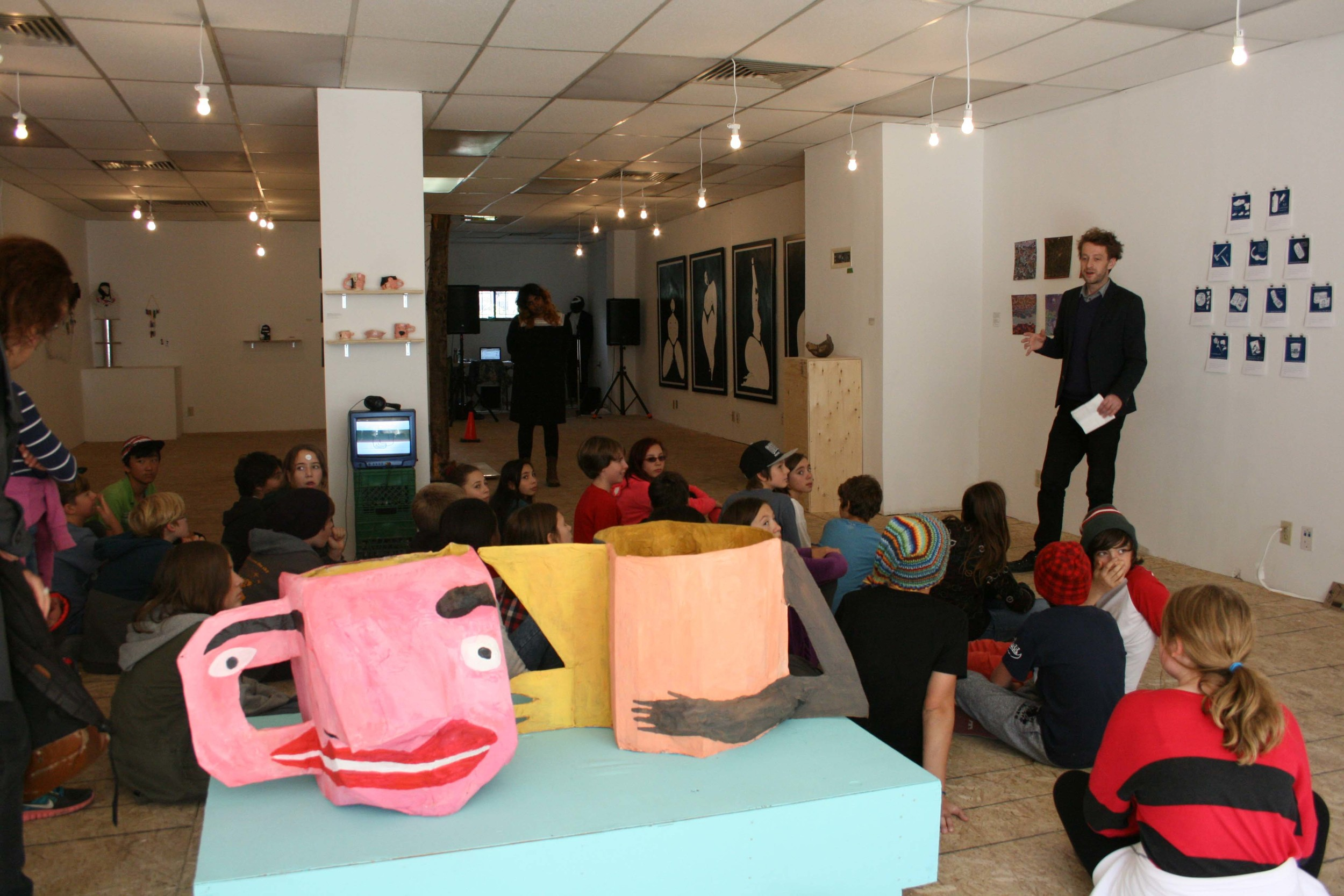 students from Delta Alternative getting a private gallery tour