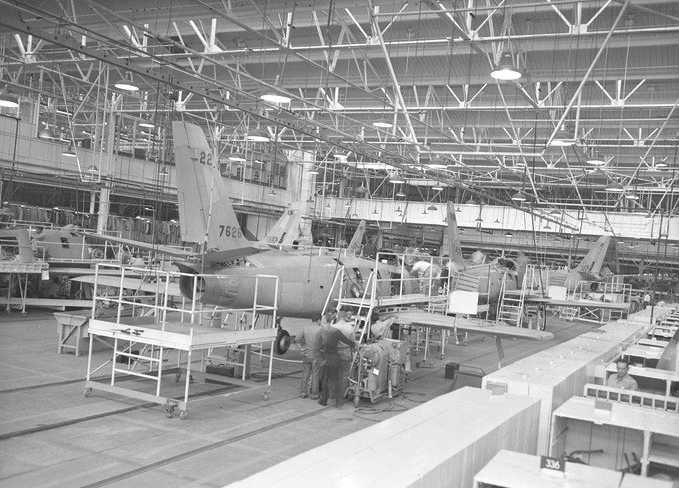 F-86 Sabre Jets at NAA Inglewood, CA.