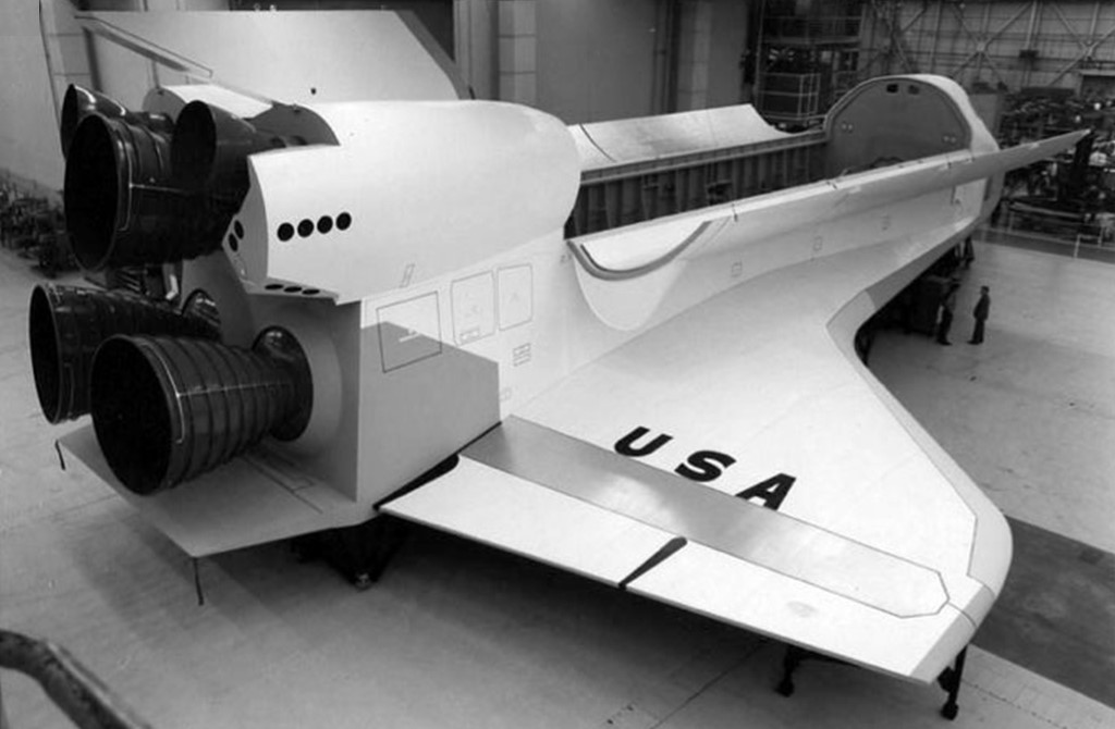 Shuttle Mockup at Rockwell in 1975