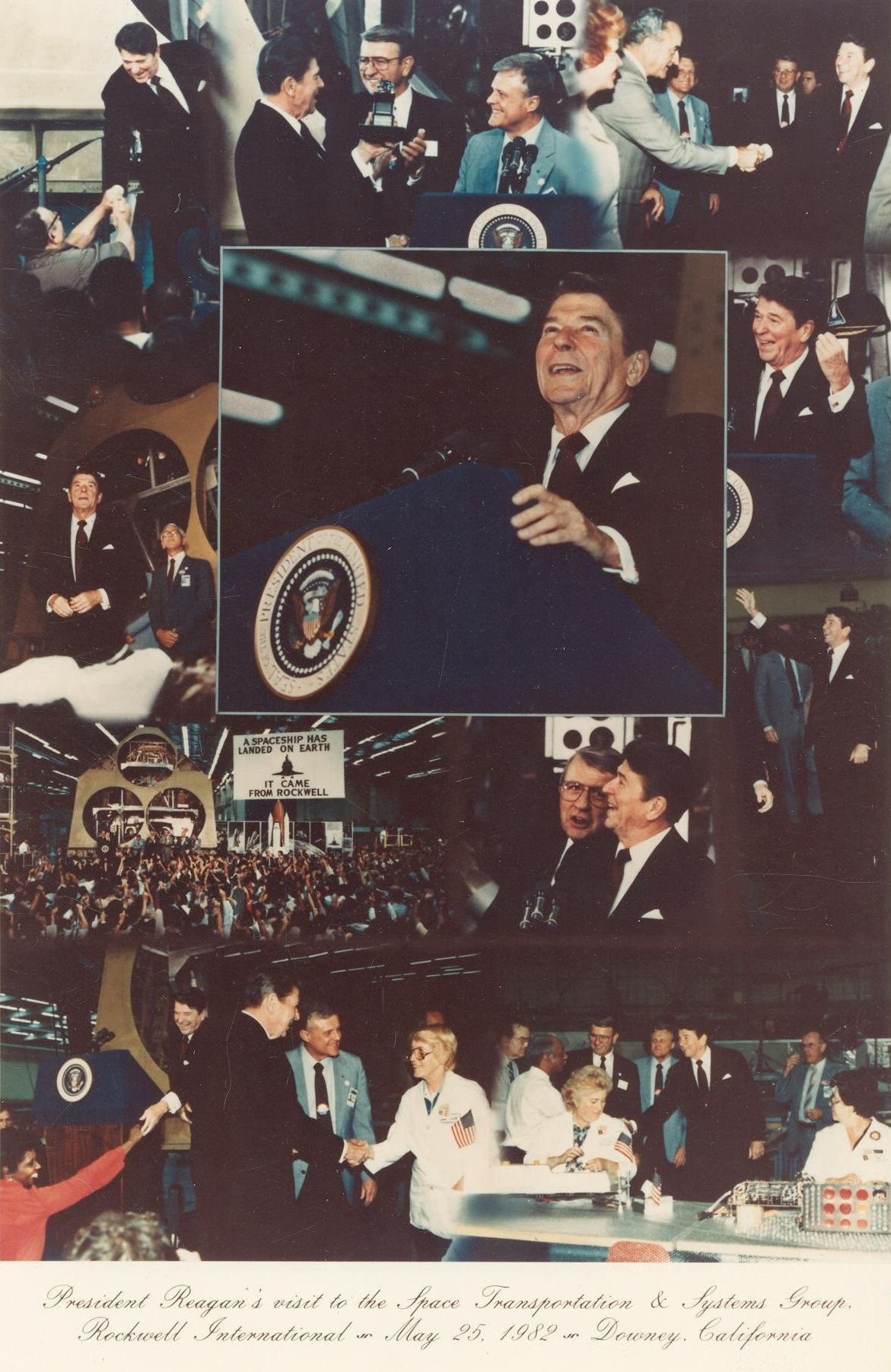 President Ronald Reagan at Rockwell STS Group Downey may 25 1982 001.jpg